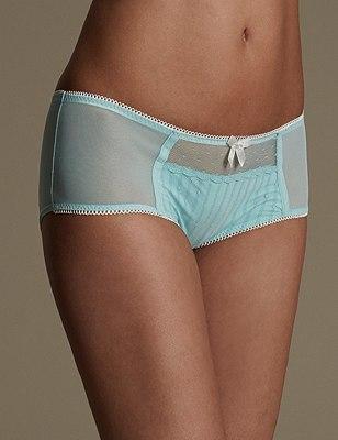 Spot Textured Shorts, AQUA MIX, catlanding