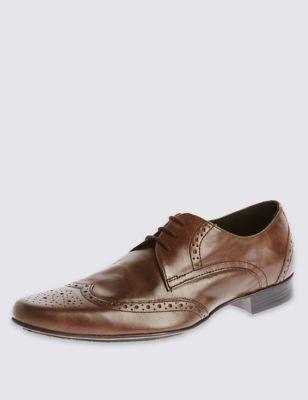 Кожаные туфли-броги в классическом исполнении Limited Edition T031276L