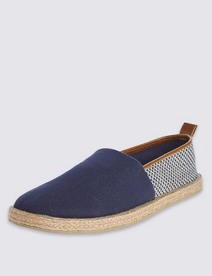 Slip-On Espadrilles, NAVY MIX, catlanding