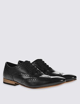 Leather Brogue Shoes, , catlanding