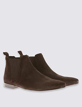 Suede Chelsea Boots, BROWN, catlanding