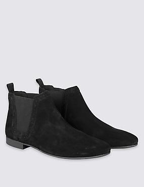 Suede Chelsea Boots, BLACK, catlanding