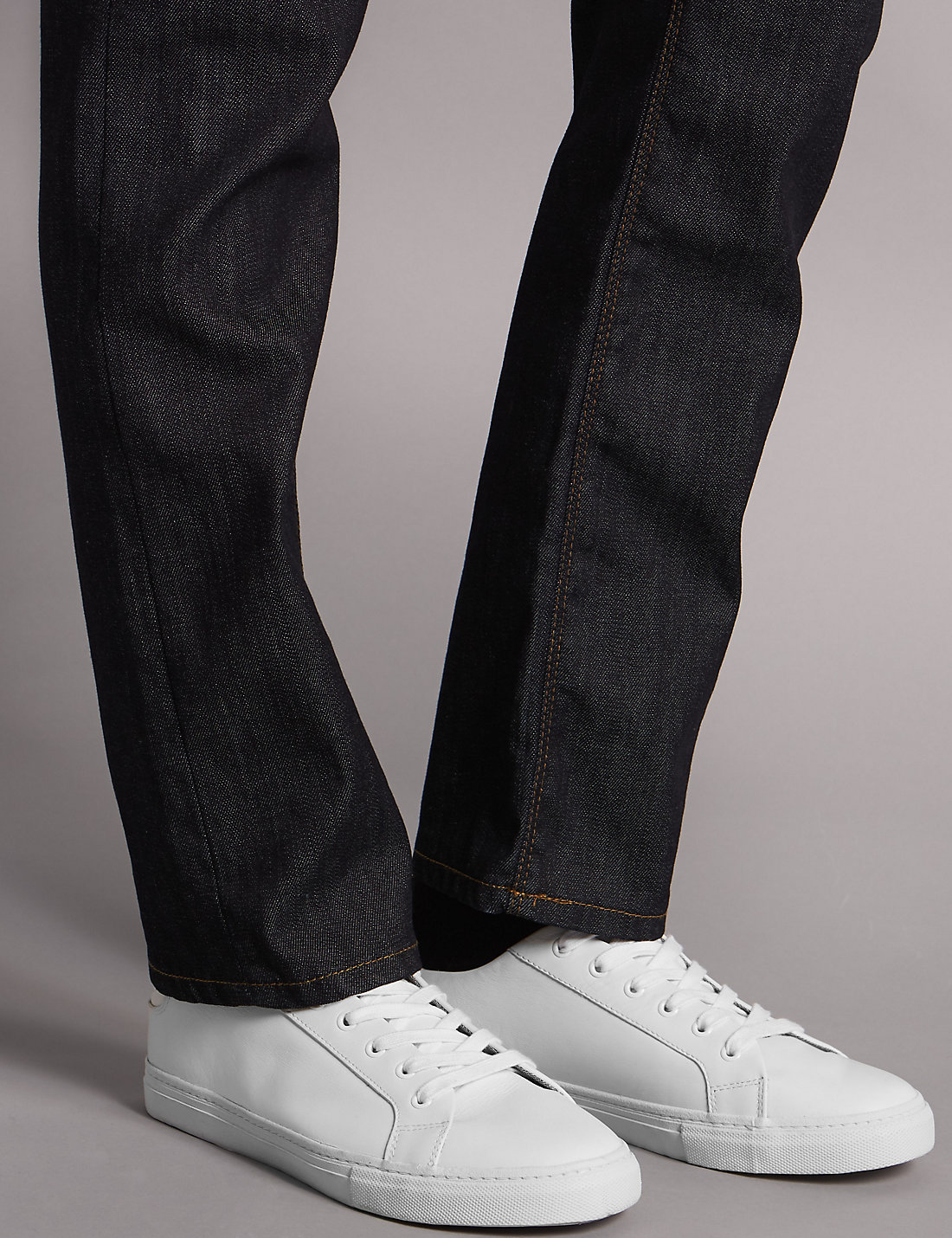 White apron marks and spencer - Leather Lace Up Trainers