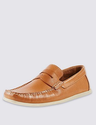 Freshfeet™ Leather Square Toe Saddle Boat Shoes with Silver Technology, TAN, catlanding