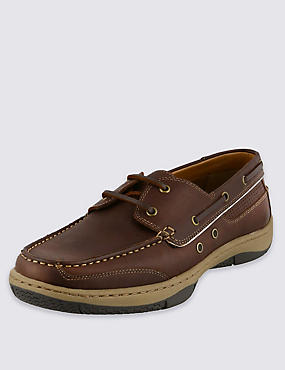 Leather Sporty Boat Shoes