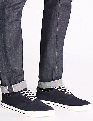 Suede Lace-up Oxford Pump Shoes, , catlanding