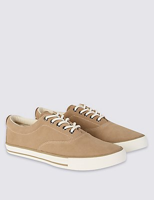 Suede Oxford Lace-up Shoes, STONE, catlanding