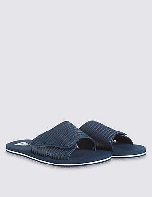 Riptape Slip-on Sandals, NAVY, catlanding