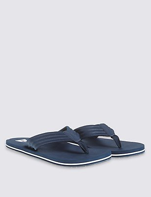 Slip-on Flip Flops, NAVY, catlanding