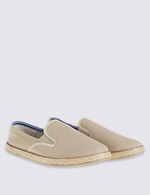 Espadrilles Slip-on Shoes, STONE, catlanding