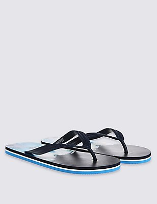 Wave Flip-flops, BLUE MIX, catlanding