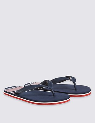 Striped Flip-flops, BLUE MIX, catlanding