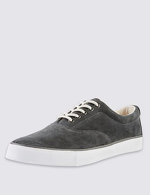 Suede Oxford Pumps, DARK GREY, catlanding