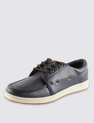 Lace Up Boat Pumps, NAVY, catlanding