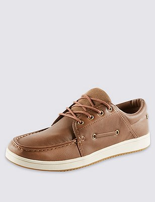 Lace Up Boat Pumps, TAN, catlanding