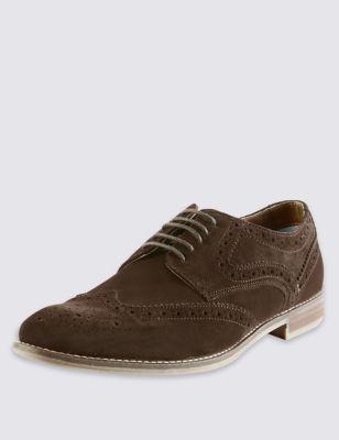 Замшевые туфли-броги с технологией Stain Resistance
