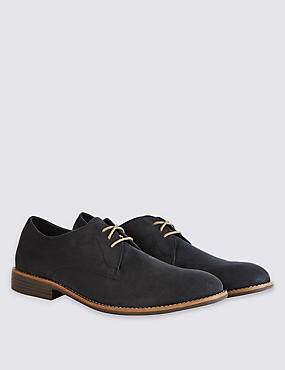 Suedette Lace-up Shoes, NAVY, catlanding