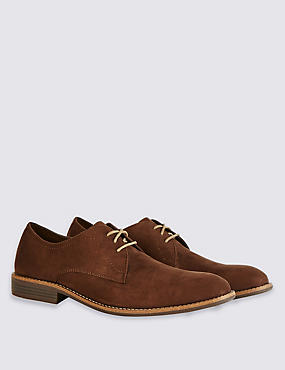 Suedette Lace-up Shoes, BROWN, catlanding
