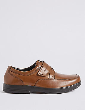 Big & Tall Extra Wide Leather Shoes, TAN, catlanding