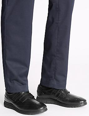 Zapatos de piel sin cordones con Airflex™, NEGRO, catlanding