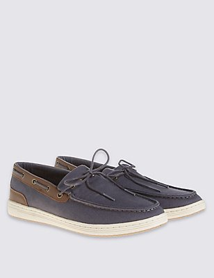 Lace-up Shoes , NAVY, catlanding