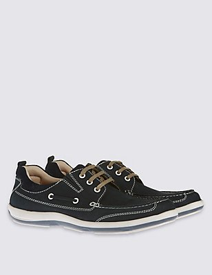 Leather Lace-up Shoes, NAVY, catlanding