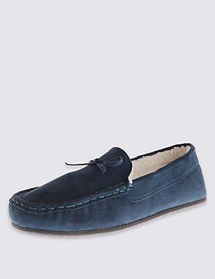 Suede Tassel Loafers with Freshfeet™, NAVY, catlanding