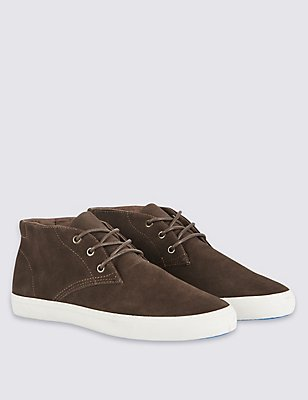 Suede Lace-up Shoes, BROWN, catlanding