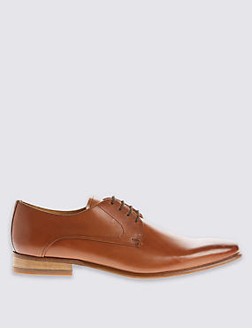 Leather Lace-up Shoes, BROWN MIX, catlanding
