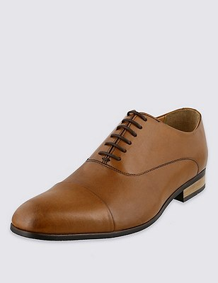 Leather Extra Wide Fit Lace Up Shoes, LIGHT TAN, catlanding