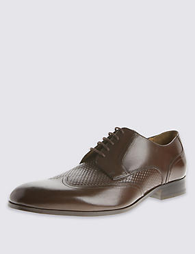 Leather Gibson Lace Up Shoes, BROWN, catlanding