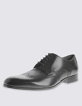 Leather Gibson Lace Up Shoes, BLACK, catlanding