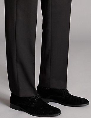 Chaussures en velours à lacets, NOIR, catlanding