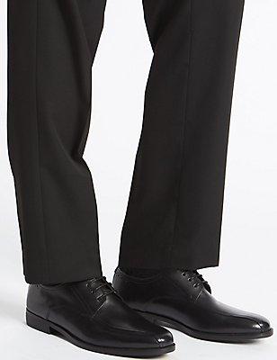 Chaussures en cuir à lacets, NOIR, catlanding