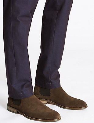 Big & Tall Suede Chelsea Boots, BROWN, catlanding