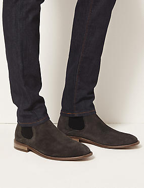 Chelsea-Stiefel aus Wildleder, GRAU, catlanding