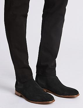 Chelsea-Stiefel aus Wildleder, SCHWARZ, catlanding