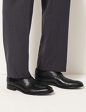 Leren Brogue schoenen, ZWART, catlanding