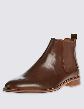 Leather Chelsea Boots, BROWN, catlanding