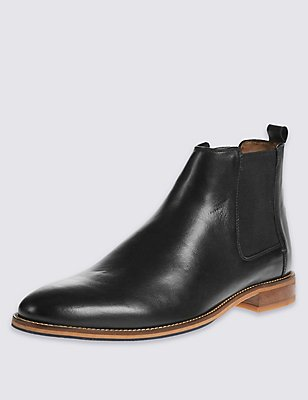 Leather Chelsea Pull-on Boots, , catlanding