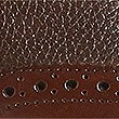 Leather Lightweight Brogue Shoes with Airflex™, BROWN, swatch