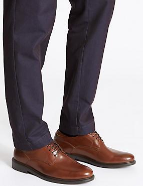 Lightweight Leather Gibson Shoe, BROWN, catlanding