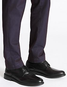 Lightweight Leather Gibson Shoe, BLACK, catlanding