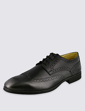 Airflex™ Leather Derby Brogue Shoes