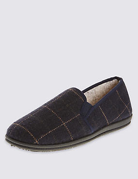 Airflex™ Checked Full Cut Slippers, NAVY, catlanding