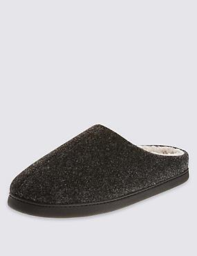 Thinsulate™ Felt Mule Slippers , GREY, catlanding