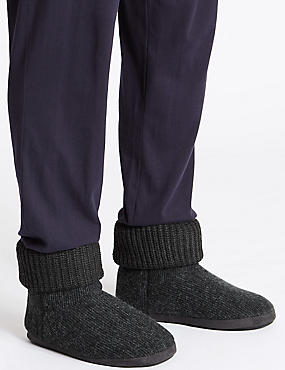 Knitted Slip-on Boots with Freshfeet™, GREY, catlanding