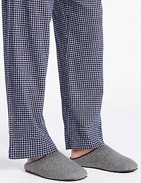 Slip-on Mule Slippers with Freshfeet™, GREY, catlanding