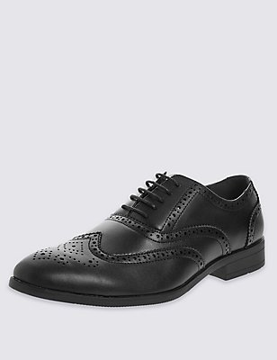 Brogue Shoes, BLACK, catlanding