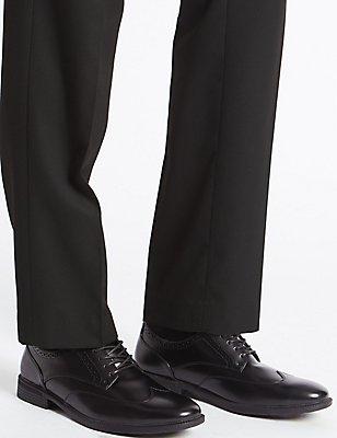 Wingtip Lace-up Shoes, BLACK, catlanding